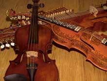 fiddle, nyckelharpa, and hardingfele
